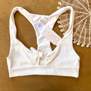 LSPACE Ribbed Tera Bikini Top White Cream
